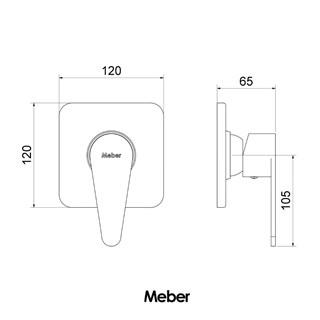 Acabamento para Monocomando de Chuveiro Minimal Advance Meber