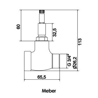 Base para Registro de Pressao MVS 3/4'' Meber