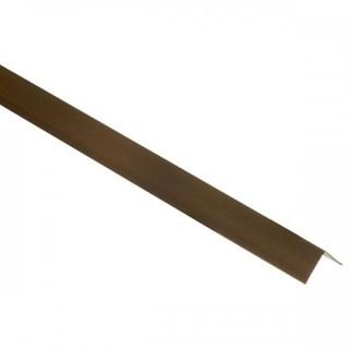 Cantoneira p/ piso/azulejo alumínio ''L'' 1'' bronze 3 metros - ALUMARK