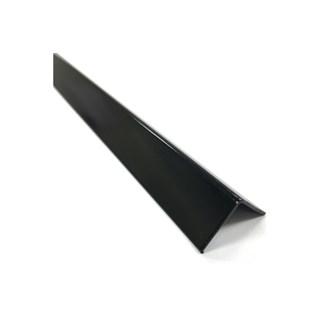 Cantoneira p/ piso/azulejo alumínio ''L'' 1'' preto 3 metros - ALUMARK