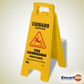 CAVALETE PLASTICO PISO ESCORREGA 270X650 CD02 - ENCARTALE