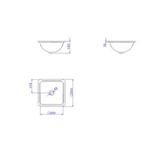 Cuba de Embutir para Banheiro Quadrada 35CM L415 Branco - Deca