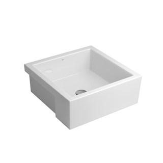 Cuba de Semi Encaixe Quadrada Cerâmica L 800 17 Branco - Deca