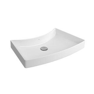 Cuba de Sobrepor de Mesa para Banheiro Posterior L127 Branco - Deca