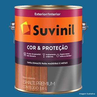 Esmalte Sintético Suvinil Cor & Proteção Brilhante 3,6l - Azul França