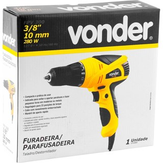 FURADEIRA PARAFUSADEIRA 3/8 280W 220V FPV300 VONDER