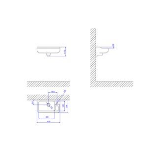 Lavatório para Banheiro L-100 GE17 Izy 43X23cm Branco Deca