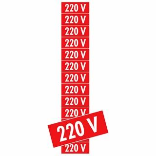 PLACA 220V CARTELA COM 13 UN DESTACÁVEL PS75 - ENCARTALE