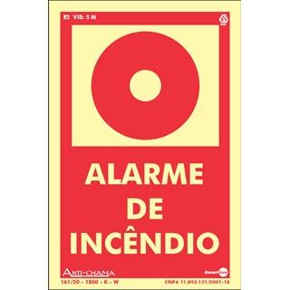 PLACA ALARME INCENDIO 10X15 PAF695 - ENCARTALE