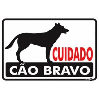 PLACA CUIDADO CÃO BRAVO 20X30 PS24 - ENCARTALE