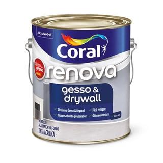 Renova Gesso & Drywall Coral - Branco 3,6l