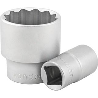 Soquete estriado com encaixe de 1/2'' 18 mm - VONDER