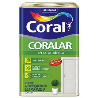 Tinta Acrílica Coralar Branco 18 Litros - CORAL