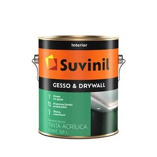 Tinta Acrílica Para Gesso E Drywall 3,6l Branca Suvinil