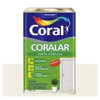 Tinta Coralar acrílica fosca branco gelo 18L - Coral