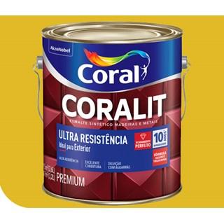 Tinta Esmalte Sintético Brilhante Coralit  Amarelo 3,6 Litros - Coral