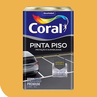 TINTA PINTA PISO FOSCO AMARELO DEMARCACAO 18L CORAL