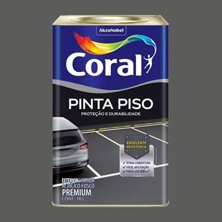 TINTA PINTA PISO FOSCO CINZA ESCURO 18L CORAL