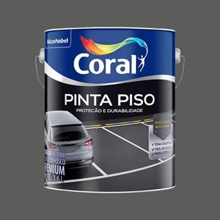 TINTA PINTA PISO FOSCO CINZA ESCURO 3,6L CORAL