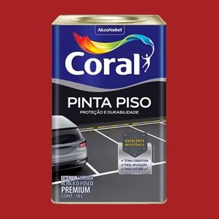 TINTA PINTA PISO FOSCO VERMELHO 18L CORAL