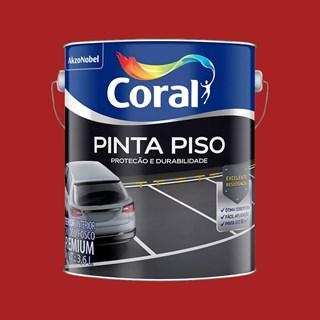 TINTA PINTA PISO FOSCO VERMELHO 3,6L CORAL