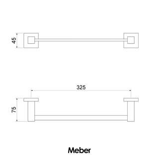 Toalheiro Linear Simples Athena Meber