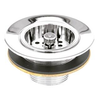 Valvula de Escoamento Romar Pia Americana c/ Arruela Metal 3.1/2'' 1623001 Cromado